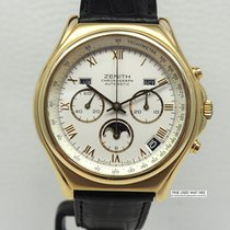 Zenith Yellow gold Automatic Silver 40mm pre-owned El Primero Chronomaster