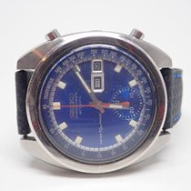 Seiko 1969 Speed-Timer Chronograph Blue Dial Stainless Mens...