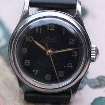 Mido Vintage Multifort Black Gilt dial screwed case