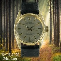 Rolex Oyster Perpetual 31 Or jaune 31mm Argent Sans chiffres