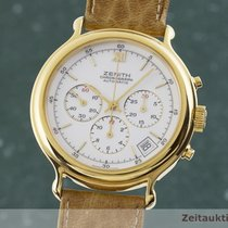 Zenith El Primero Chronograph occasion 38mm Blanc Chronographe Date Cuir