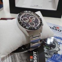 Tissot PRS 516 rabljen 42mm Crn Kronograf Datum, nadnevak Tahimetar Zeljezo