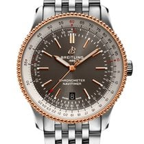 Breitling Navitimer Acero y oro 41mm Gris
