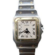 Cartier Santos Galbée Gold/Steel 33mm White Roman numerals