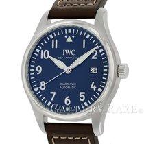 IWC Pilot Mark Zeljezo 40mm Plav-modar Arapski brojevi