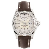 Breitling Galactic 41 Steel 41mm Silver No numerals