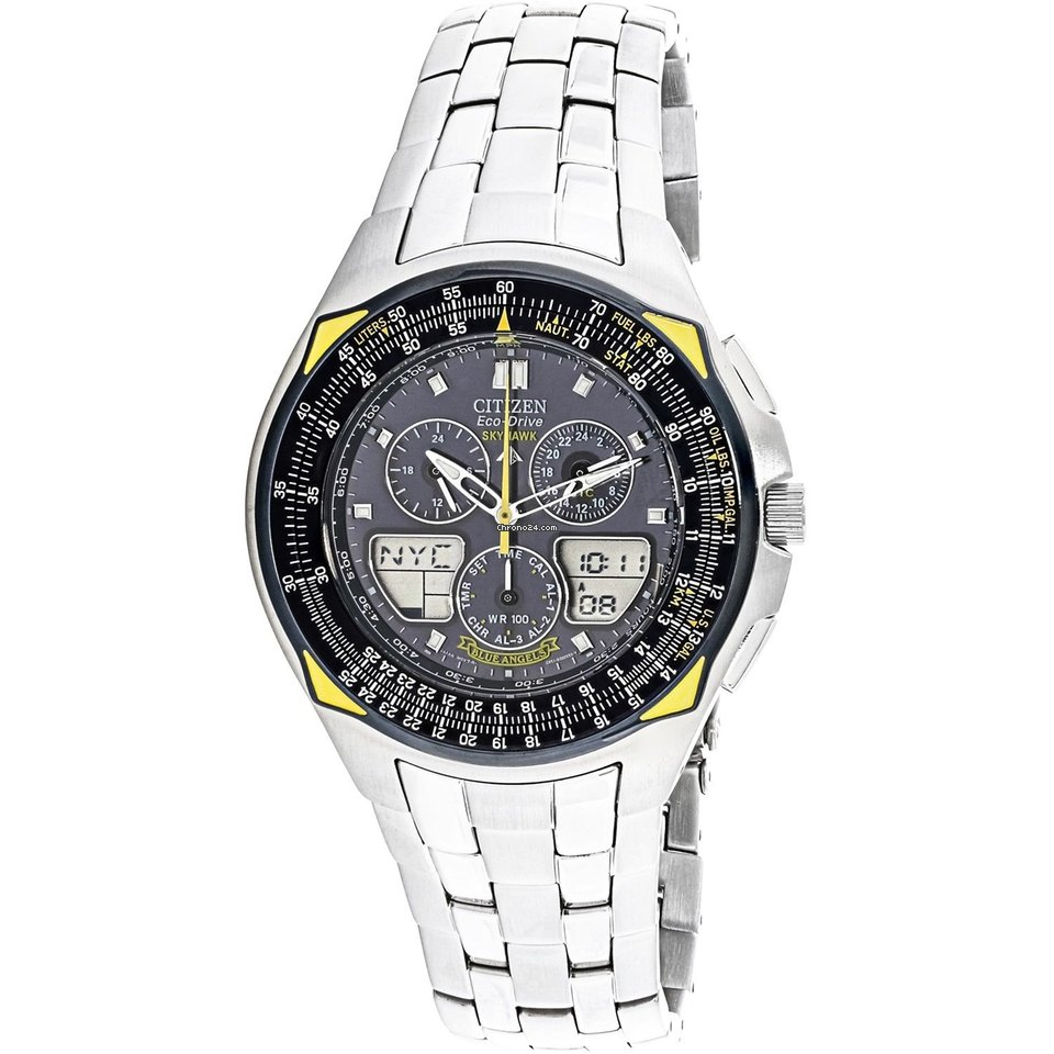 Citizen BLUE ANGELS Eco Drive SKYHAWK Blue Dial / Steel