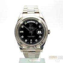 Rolex Day-Date II Weißgold 218239 Schwarz DIA LC100