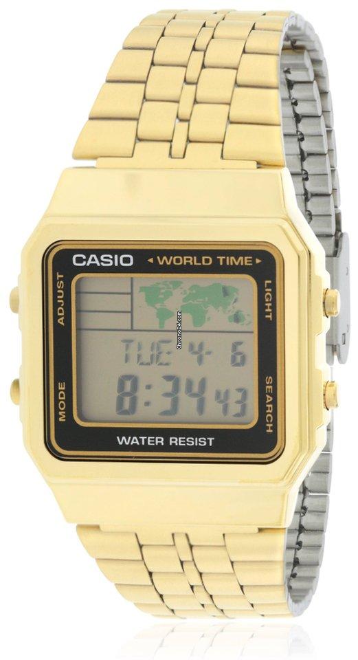 2c2edaf3a3c Casio Gold- Tone Digital Retro Alarm Chronograph Mens Watch à vendre pour  41 € par un Seller sur Chrono24