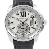 Cartier Calibre de Cartier Steel 42mm Silver Roman numerals United States of America, New York, NYC