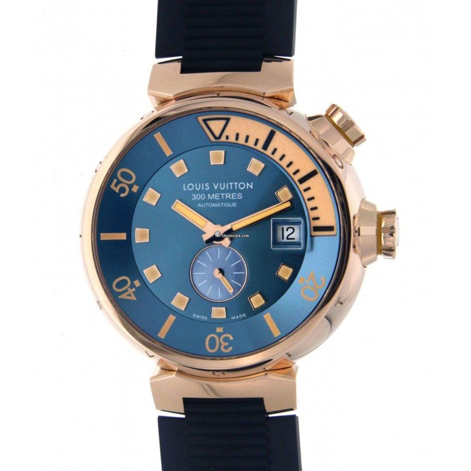 cadf1d67d6 Louis Vuitton Tambour Diver Q103e Rose Gold 44mm za Kč 288 445 k prodeji od  Trusted Seller na Chrono24