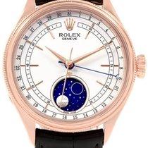 Rolex Cellini Moonphase Or rose 39mm Blanc Sans chiffres France, Thonon les bains