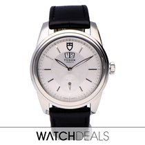 Tudor Glamour Double Date Stahl 42mm Silber Keine Ziffern