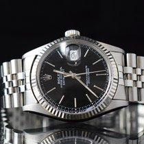 Rolex Datejust Ατσάλι 36mm Μαύρο Xωρίς ψηφία
