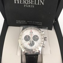 Michel Herbelin Newport Trophy Staal 41,5mm Wit