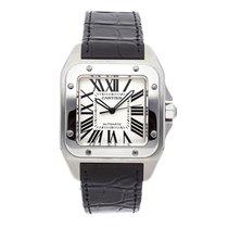 Cartier Santos 100 Steel 51mm Silver Roman numerals United States of America, Pennsylvania, Bala Cynwyd