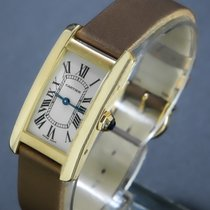 Cartier Tank Américaine Or jaune 19mm Blanc Romain