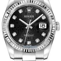 Rolex Datejust 36mm Stainless Steel 116234 Jubilee Black...