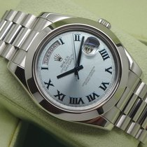 Rolex Day-Date II / President II 41mm Ice Blue Roman Platinum