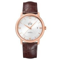 Omega De Ville Prestige Mens Watch Leather Strap 424.53.40.20....