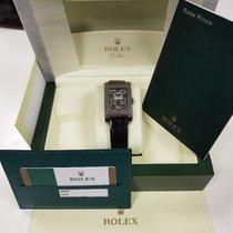 Rolex Cellini Prince Oro blanco 28mm Negro