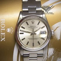 Rolex Date Stainless Steel Silver Index Dial Mens 34mm...