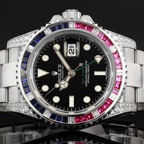Rolex GMT Master II 116710 LN - 2012 - Diamond , Ruby and...