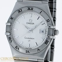 Omega Constellation Ladies pre-owned 23mm White Date Steel