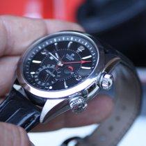 Tudor Heritage Advisor Heritage Alarm Black dial Leather strap