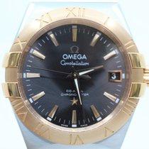 Omega Constellation Ladies Gold/Steel 35mm Grey No numerals
