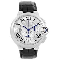 Cartier Ballon Bleu 44mm pre-owned 47mm Silver Date Leather