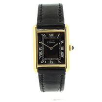 Cartier Silver Manual winding 23mm pre-owned Tank (submodel)