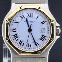 Cartier Santos (submodel) tweedehands 31mm Goud/Staal