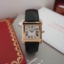 Cartier Rose gold Manual winding White Roman numerals 37mm pre-owned Tank (submodel)