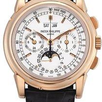 Patek Philippe Perpetual Calendar Chronograph Oro rosa 40mm Argento