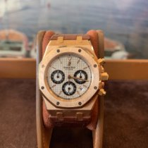 Audemars Piguet Royal Oak Chronograph Or rose 39mm Argent Sans chiffres France, Cannes