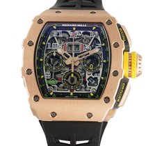 Richard Mille new Automatic 45mm Rose gold Sapphire crystal