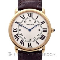 Cartier Oro rojo Cuerda manual 36mm usados Ronde Louis Cartier