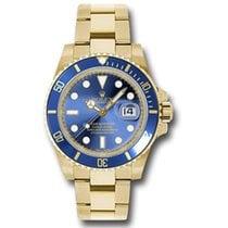 Rolex Submariner Date Žluté zlato 40mm Modrá