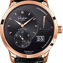 Glashütte Original PanoReserve Rose gold 40mm Black No numerals