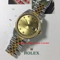 勞力士 16233 Datejust Steel & Gold 36mm Small diamond dial W paper