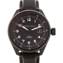 Hamilton Khaki Aviation Acier 42mm Noir