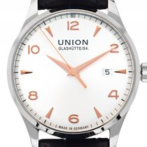 Union Glashütte Noramis Date Steel 40mm Silver Arabic numerals