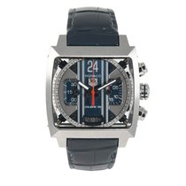TAG Heuer Monaco Calibre 36 Staal 41mm Blauw