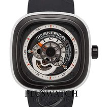 Sevenfriday P3-3 Stal 47mm Czarny