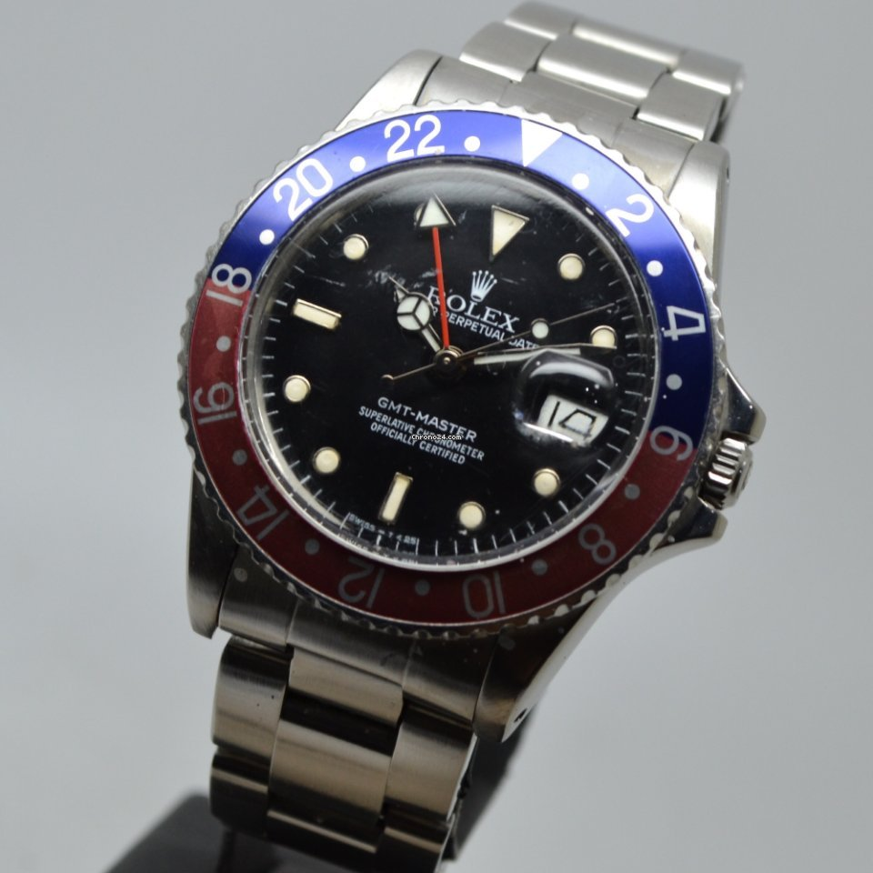 Rolex GMT Master 16750 PEPSI SERVICE PAPERS 1985