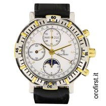 Lucien Rochat cronograph moonphases mother pearl dial