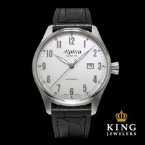 Alpina Startimer Classic Black and Steel Automatic Men's Watch