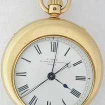 Dent Split Second  Asymmetrical Case Chronograph Pocketwatch Very good Yellow gold 48mm Manual winding United States of America, New York, New York, New York