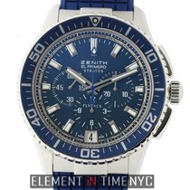 Zenith El Primero Stratos Flyback Steel 46mm Blue United States of America, New York, New York